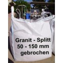 Splitt 50 - 150 mm - Granit - weiss / schwarz / gelb - BIG BAG - 0,5m³ - ca.850kg