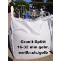 Splitt 16 - 32 mm - Granit - weiss / schwarz / gelb - BIG BAG - ca. 0,5m³ - ca.850kg